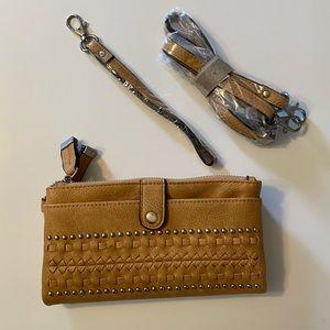 Simply Noelle Cross body tan wallet NWOT